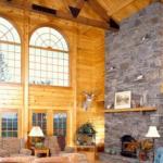 national log home month, log home interior view, timberhaven log homes
