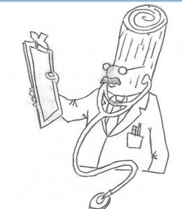 Dr. Kiln-Dry cartoon drawing, humidity levels, Timberhaven Log Homes, log homes, log cabin homes, log cabins, post and beam homes, timberframe homes, timber frame homes, laminated logs, engineered logs, floor plan designs, kiln dried logs