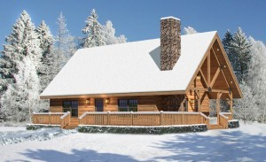 log home in the show, valley view I, log home rendering, timberhaven