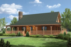 small log cabin with front porch, summer feature home, meadow view I, log home, log homes, log cabin homes, engineered logs, Timberhaven, log homes in PA, kiln dried, most complete package