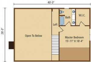 floor plan of home, summer feature home, meadow view I, log home, log homes, log cabin homes, engineered logs, Timberhaven, log homes in PA, kiln dried, most complete package