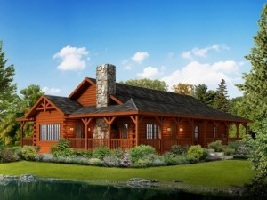 liberty log cabin home, log homes, log cabins, engineered logs, Timberhaven, Timberhaven Log & Timber Homes, single story homes, summer feature home, log cabin home