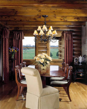 Log Home Dining Room - Timberhaven
