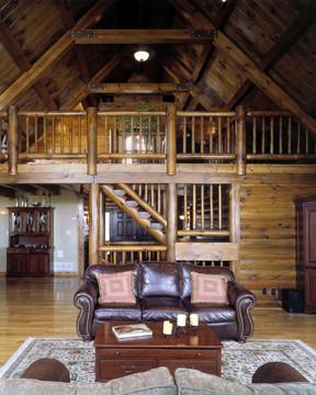 Half Log Staircase - Timberhaven