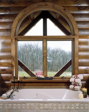 Custom Log Home Window Design