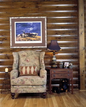Rancher Art Makes Log Home Unique