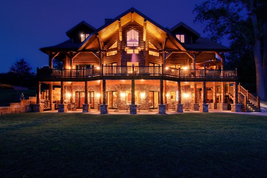 Luxurious Custom Log Home
