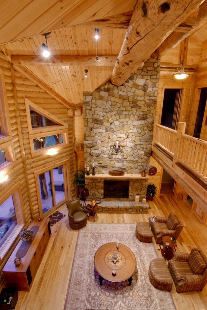 Point in Center of Log Home