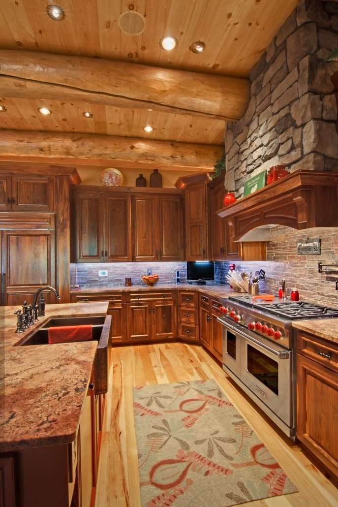 Ultimate Chef's Kitchen in Log Home
