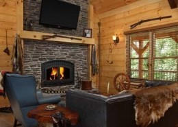 Complementing Stone Fireplace