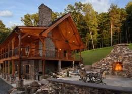 Log Cabin Getaway Makes a Big Statement