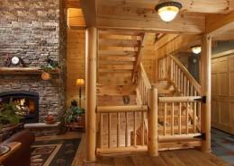 Exposed Heavy Timber Stairway