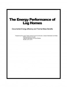 The Energy Performance of Log Homes