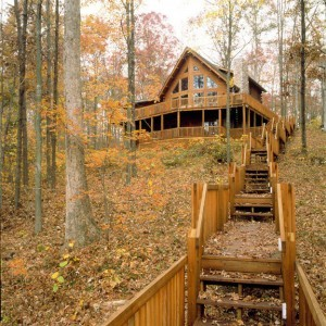 log home with lots of steps, log home with water access, log homes, log cabins, finding land, cabin in the woods, Timberhaven,