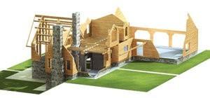 Lumber Log Home Package