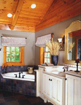 Whirlpool Bath In Log Home