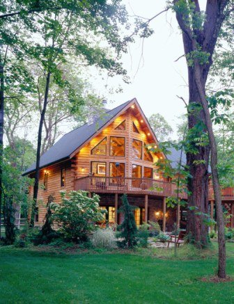 A Masterpiece In Log Home Design