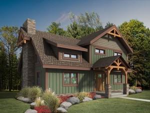 Craftsman Timber Frame Design, craftsman timber frame fall feature home, timber frame homes, small timber frame designs, Timberhaven