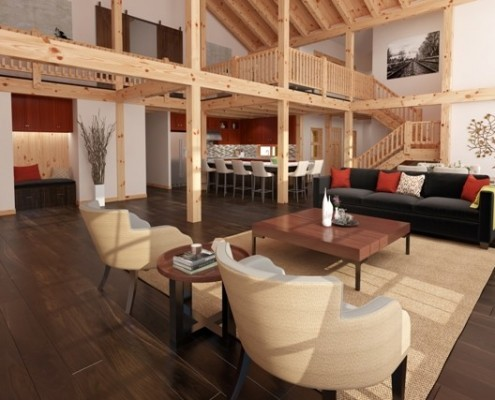 Heritage Timber Frame Interior
