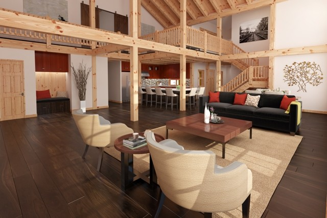 Heritage Timber Frame Interior