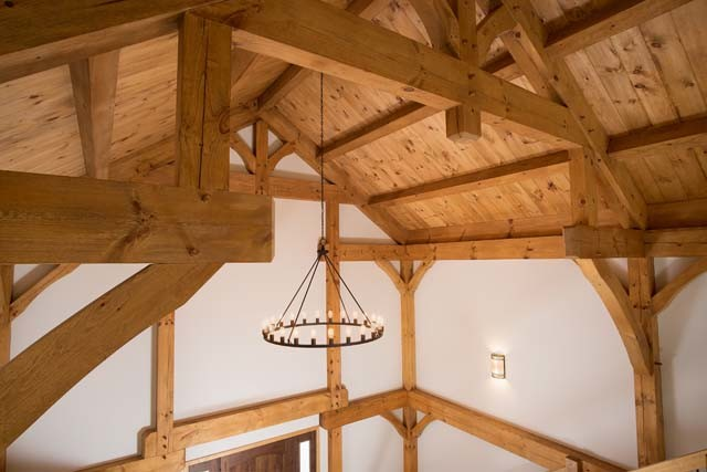 Timber Frame Cathedral Ceiling