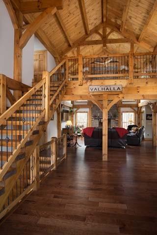 Timber Frame Bold Entrance