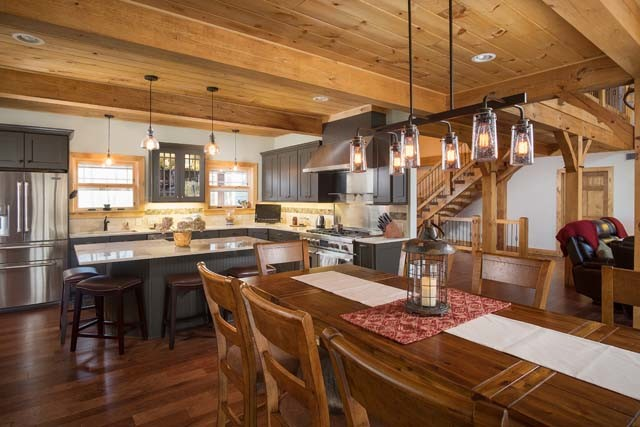 Timber Frame Open Living Areas
