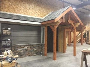 Hardie Board and timber frame display, product display areas, timber frame display area, Hardie board display area
