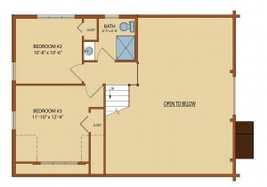 clear creek first level floor plan, clear creek log cabin, home designs, log homes, small log cabins, timber homes, Timberhaven