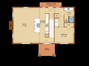 craftsman timber frame floor plan