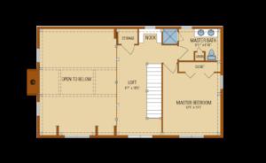 Craftsman Second Level Floor Plan
