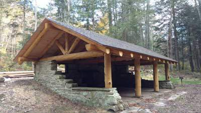 Lodge Pole Pine Timber Frame Pavilion