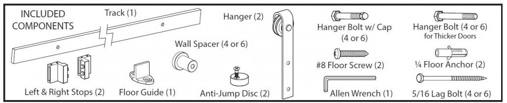 hardware barn door kit