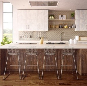 trendy tile in kitchen area, log homes, timber frame homes, Timberhaven, tiles for custom homes