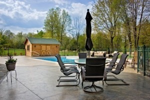 Create a better backyard pool area, better backyard, log homes, log cabins, timber frame homes, laminated logs, engineered logs, floor plan designs, kiln dried logs, log homes in Pennsylvania, Timberhaven Log Homes, Timberhaven Log & Timber Homes