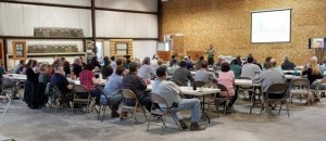 group of people sitting at a seminar, successful planning seminar, log home planning seminar, timber frame home planning seminar, planning and construction seminar, Timberhaven seminar, educational events