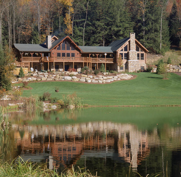 Log Home Addition to Existing Log Home