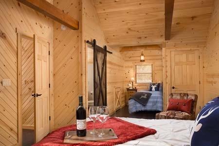 Log Home Guest Bedroom