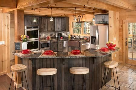 Sacchini Log Cabin Kitchen, Open Design