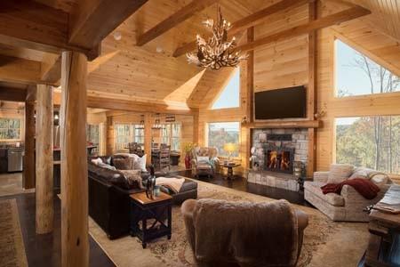 Sacchini Log Cabin Great room