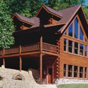 Log Home Exterior Cape Cod Style
