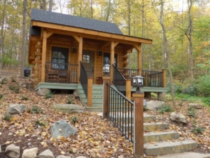 small log cabin with stairs, unique log cabin, log cabin home, log cabins, log homes, timber frame homes, Engineered Logs, Timberhaven Log & Timber Homes
