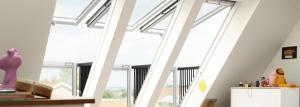 velux cabria balcony in loft, velux cabria balcony, Timberhaven, timber frame homes, log homes, custom design