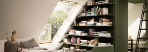 single velux cabria balcony in loft area, velux cabria balcony, Timberhaven, timber frame homes, log homes, custom design