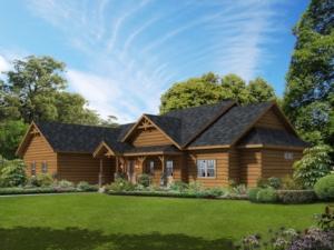 modified sullivan log home, log home plan, log home design, Timberhaven Log & Timber Homes, Timberhaven, log home living magazine