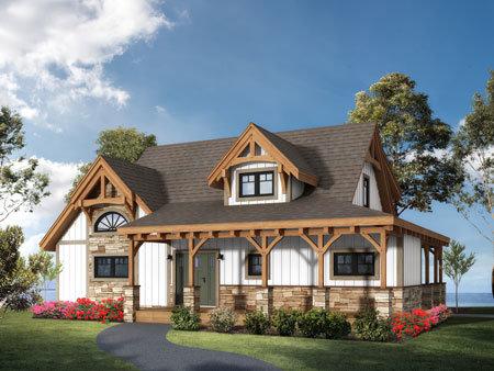 Cottage Timber Frame Home Design