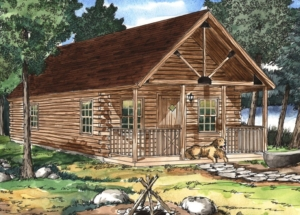 small log cabin by the creek, hunting cabins, Sportsman Cabin Series, log cabins, log cabin homes, small hunting cabins, affordable hunting cabins, affordable cabins, small cabins, cabins in PA, Timberhaven