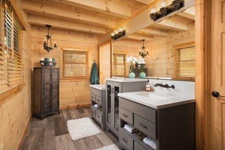 Modern Log Home Bathroom
