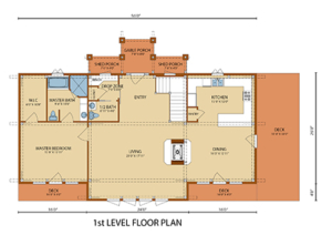 first level floor plan of home, Lake Augusta, Lake Augusta Timber Frame Design, timber frame homes, timber frame home, timber frame design, timber frame floor plans, Timberhaven