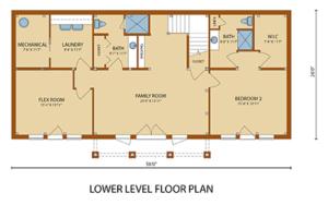 lower level floor plan of home, Lake Augusta, Lake Augusta Timber Frame Design, timber frame homes, timber frame home, timber frame design, timber frame floor plans, Timberhaven